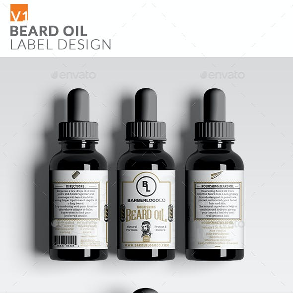 Beard Oil Label Packaging Design