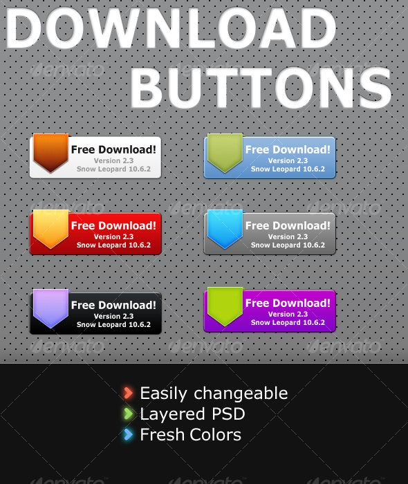 Download Buttons - Buttons Web Elements