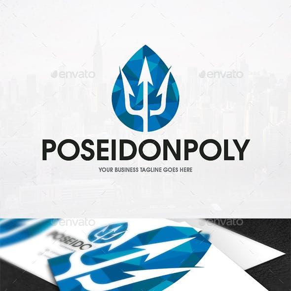 Poseidon Low Poly Logo