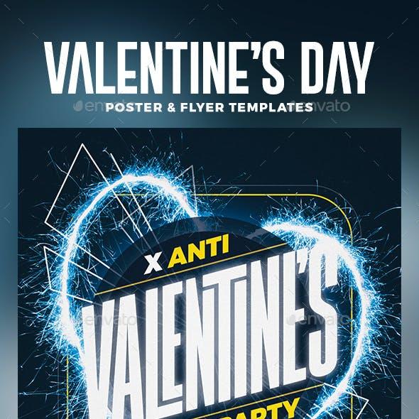Anti Valentine's Day Flyer & Poster