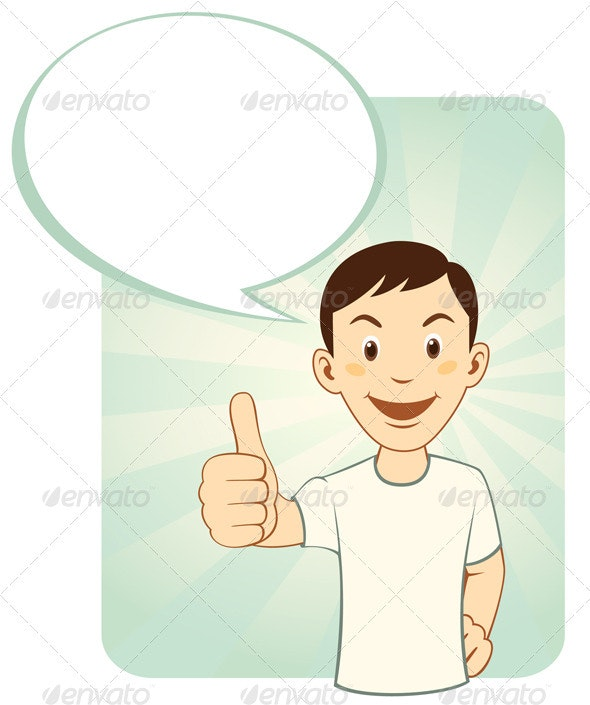 Thumbs Up Man - People Characters