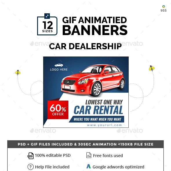 Car Dealership Animated Banner Set
