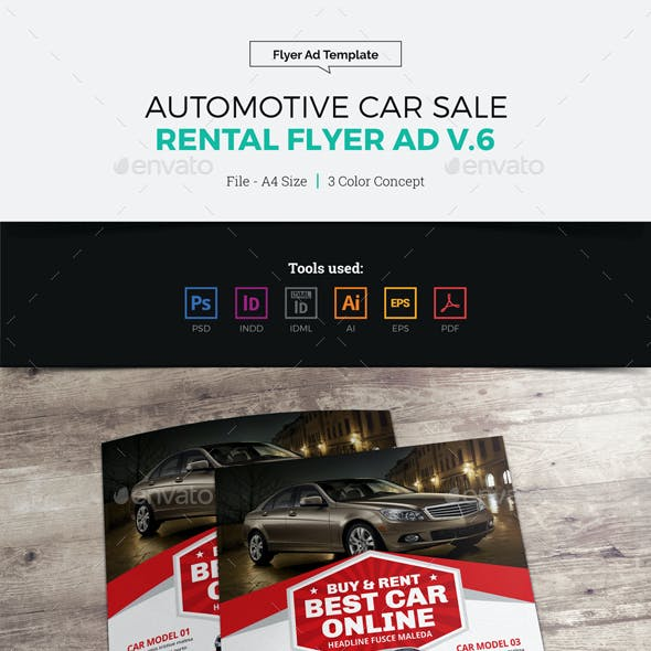 Automotive Car Sale Rental Flyer Ad v6