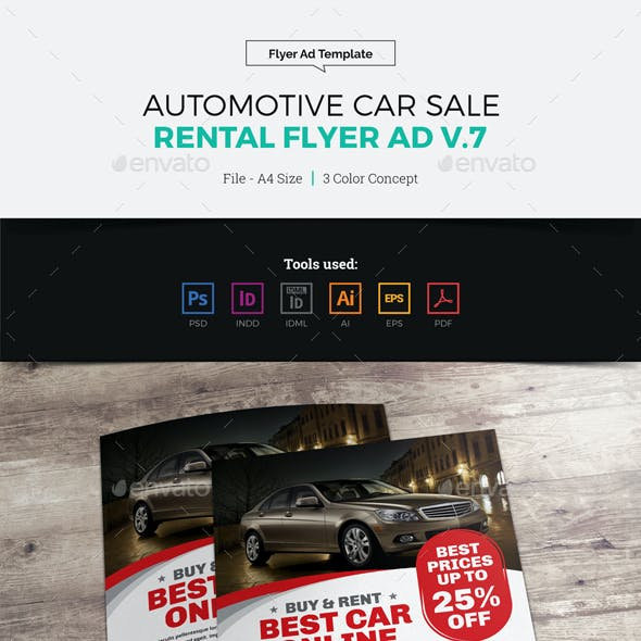 Automotive Car Sale Rental Flyer Ad v7