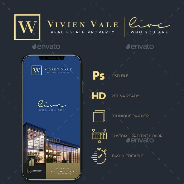 Real Estate Instagram Banner Templates