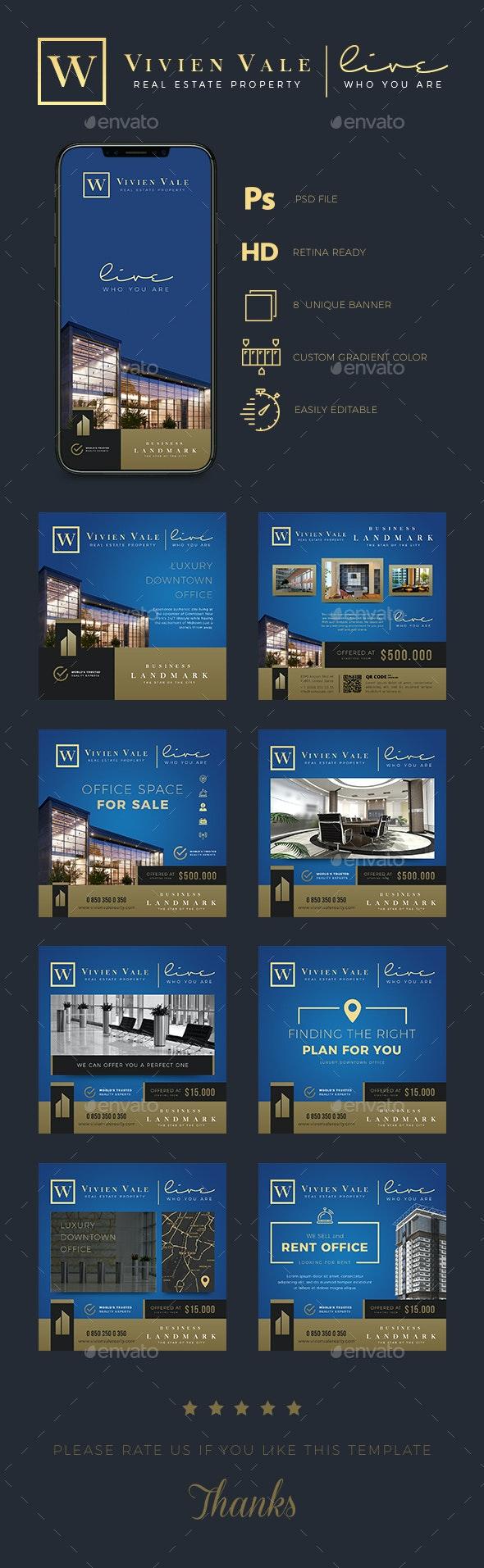 Real Estate Instagram Banner Templates - Social Media Web Elements