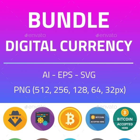 Digital Currency Bundle Icons
