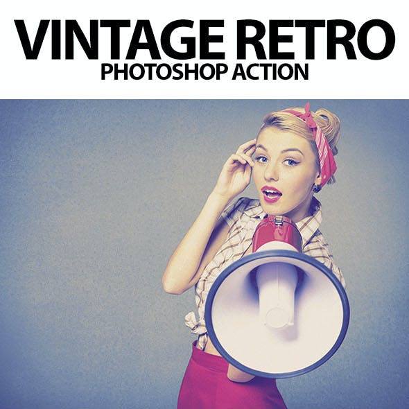 Vintage Retro Photoshop Action