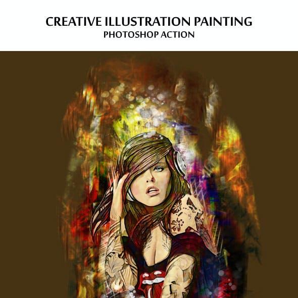 Creative Illustrations Photoshop Action