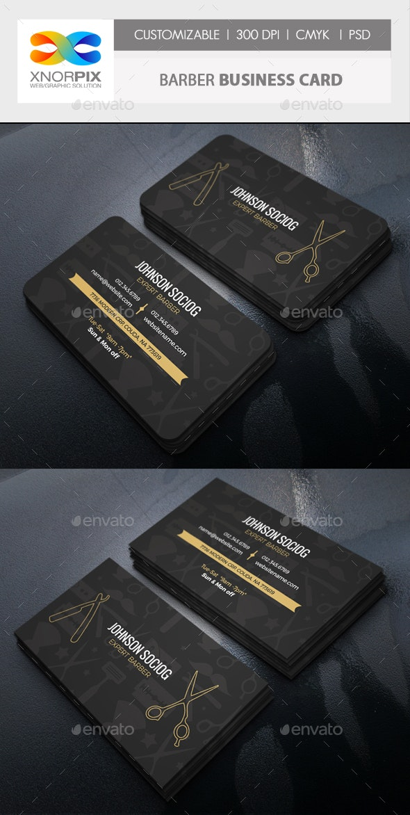 Barber Business Card By Axnorpix