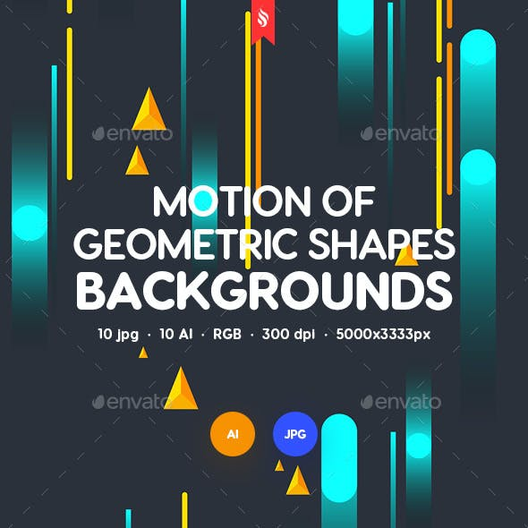 Abstract Motion of Geometric Shapes Backgrounds