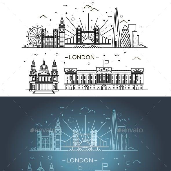 Linear Banner of London