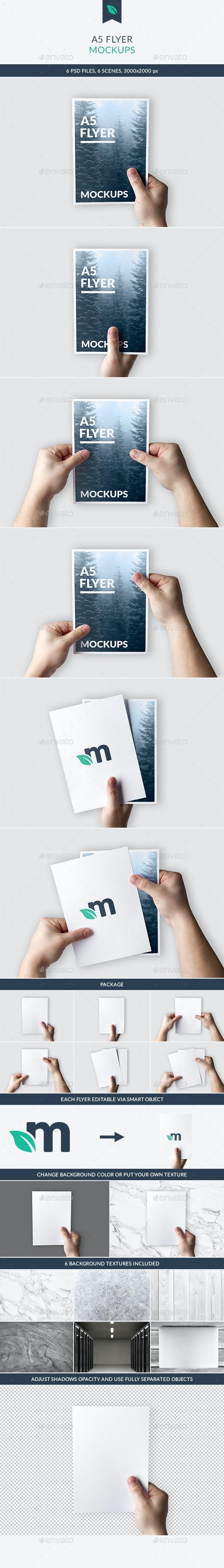 A5 Flyer Mockups - Flyers Print