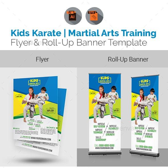 Kids Karate | Martial Arts Training Flyer & Roll Up Bundle