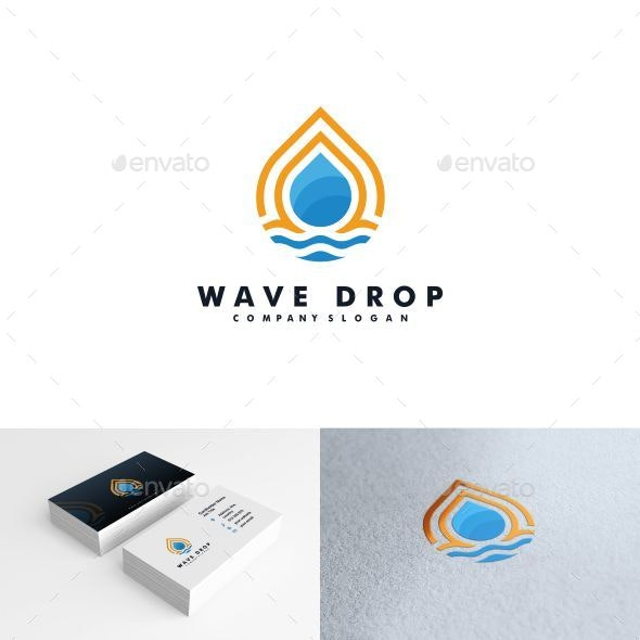 Water drop logo by mouze_art | GraphicRiver