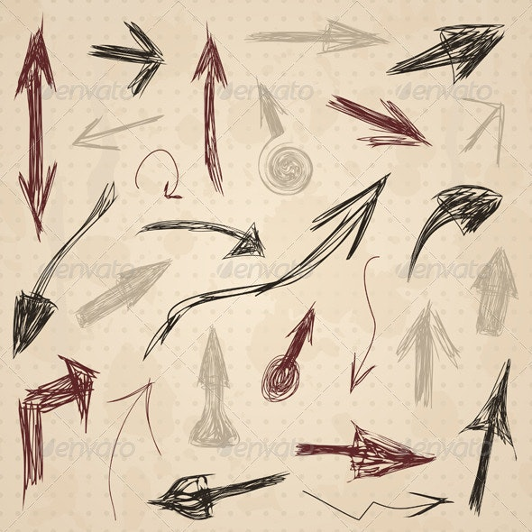Arrow drawing2 - Web Elements Vectors