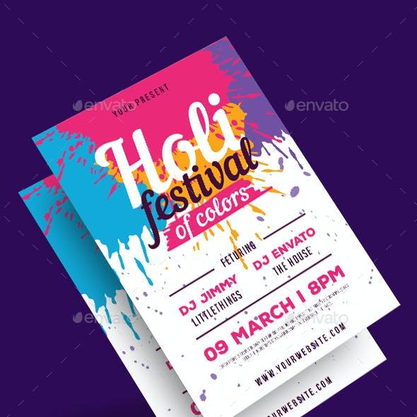 Holi Festival of ColorsFlyer