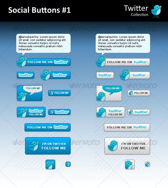 Twitter - Social Buttons #1
