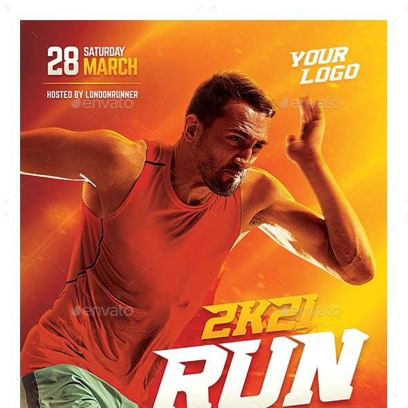 Running Sport Flyer