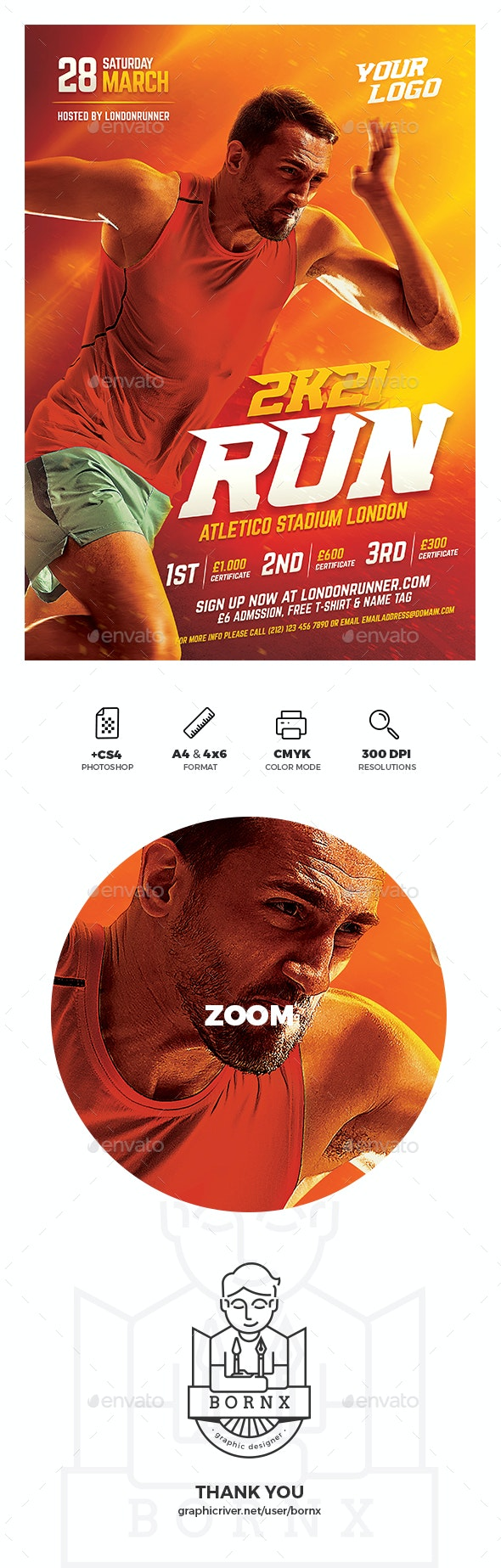 Running Sport Flyer - Sports Events