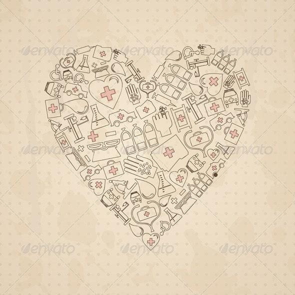 Medical heart3 - Health/Medicine Conceptual