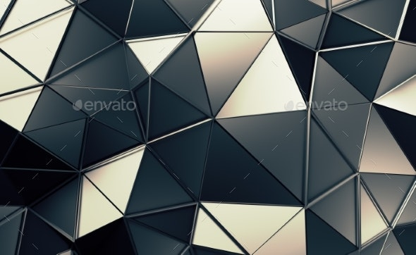 Abstract 3D Rendering of Polygonal Background. - Backgrounds Graphics