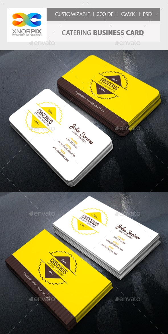 Catering Business Card - Corporate Business Cards