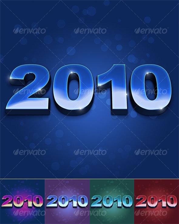 2010 3d look psd file - 3D Backgrounds