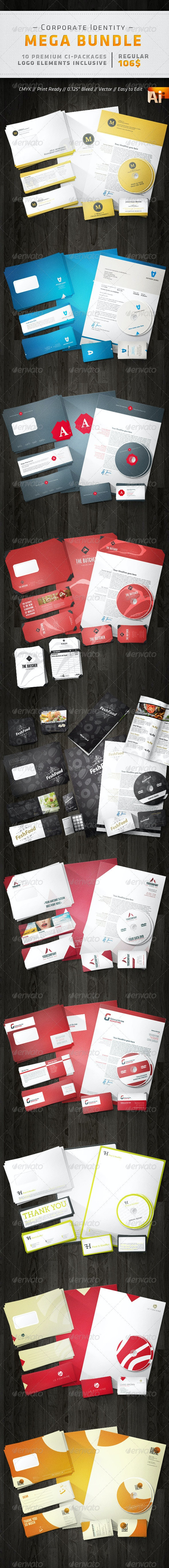Corporate Design Mega Bundle - Stationery Print Templates