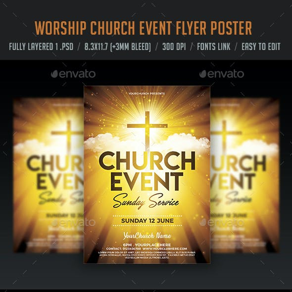 Worship Church Event Flyer Poster