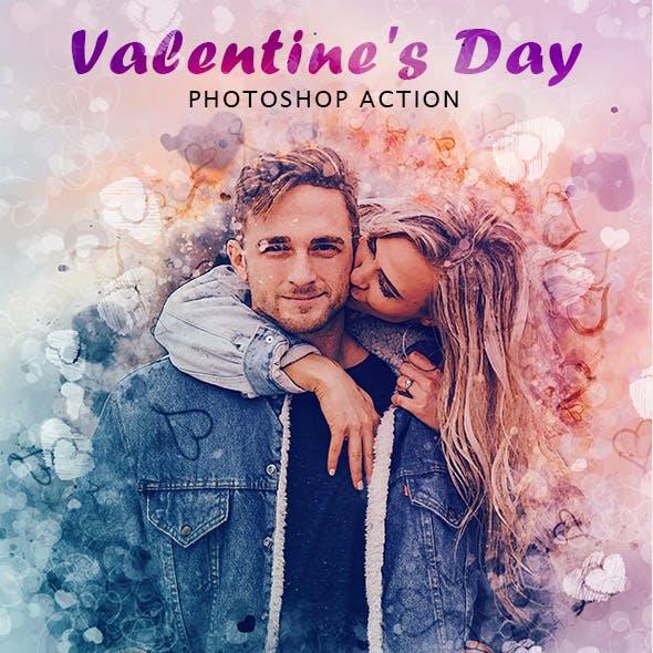 Valentines Day Photoshop Action