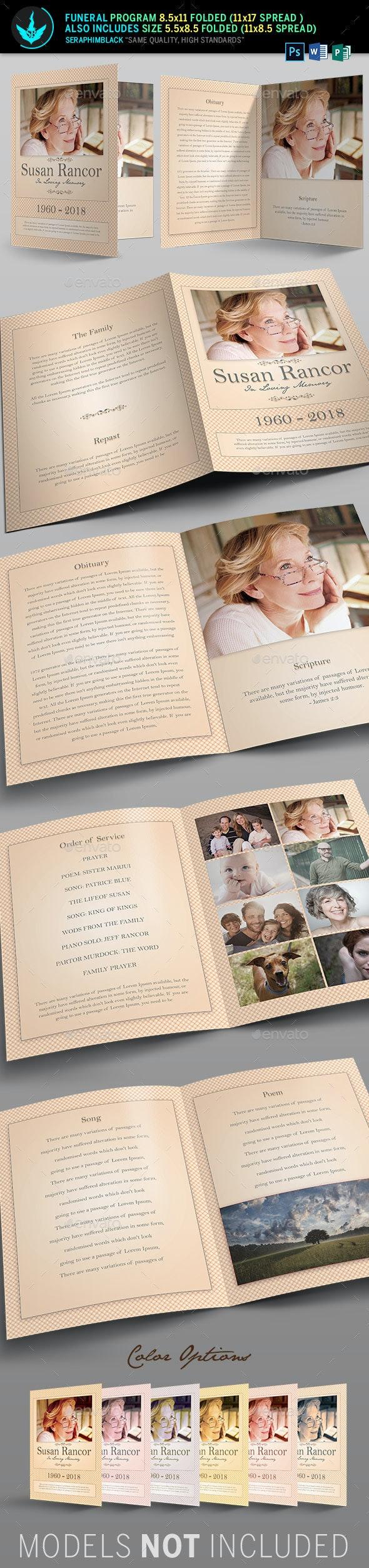 Classic Funeral Program Template - Informational Brochures