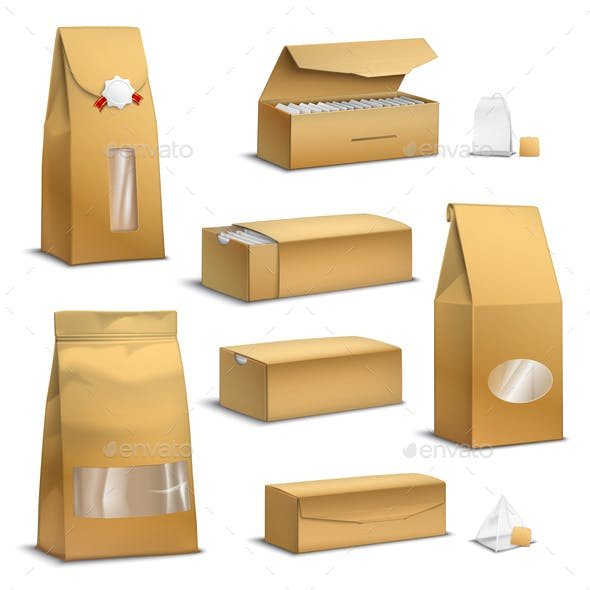 Kraft Paper Tea Packs Realistic