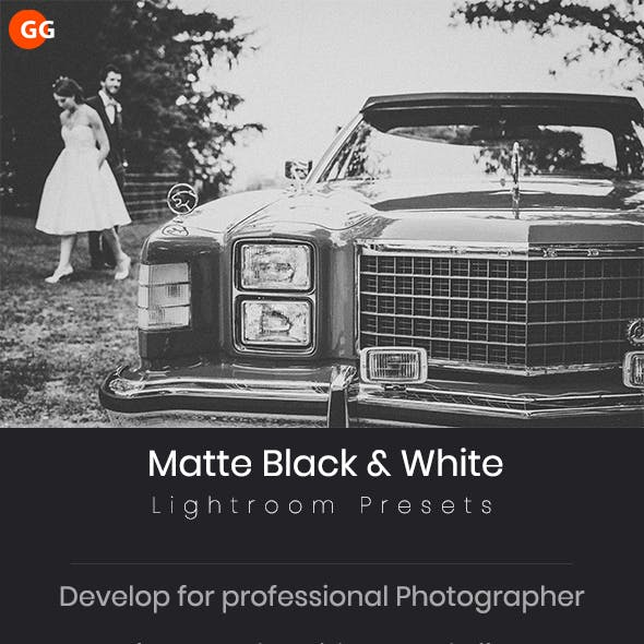 25 Matte Black & White Lightroom Presets