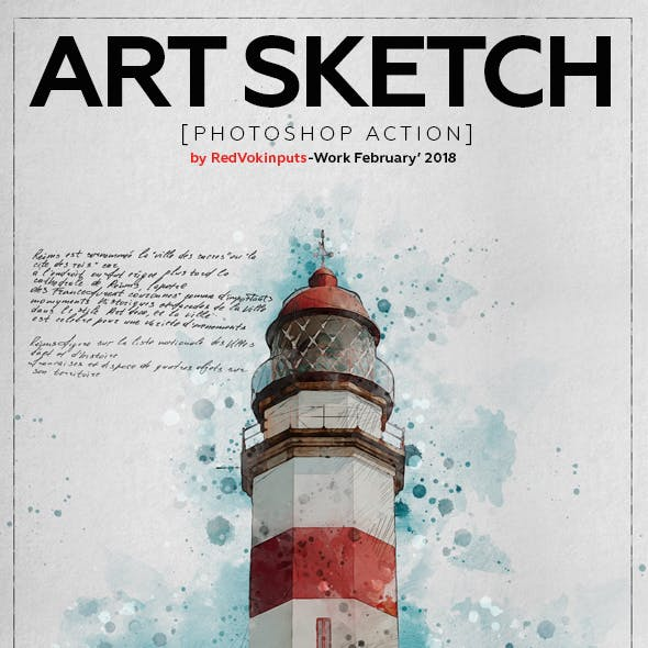 Art Sketch Photoshop Action