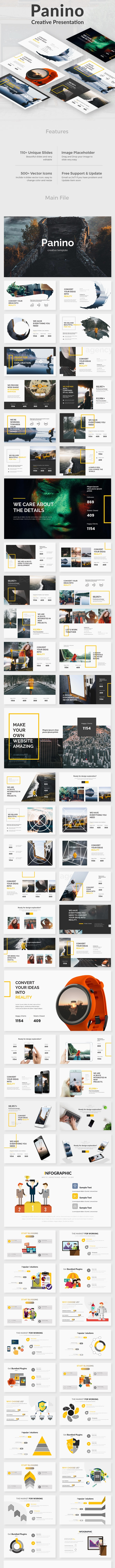 Panino Creative Design Keynote Template - Creative Keynote Templates