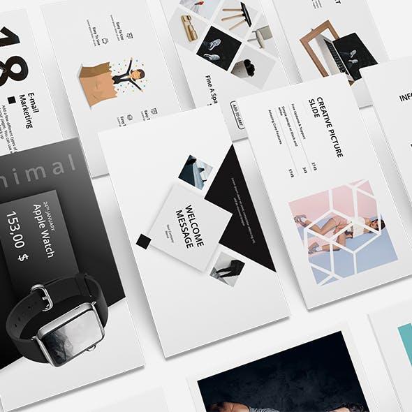 Black n White Minimal Powerpoint Template