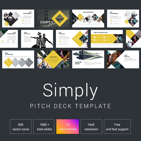 Simply Pitch Deck Powerpoint Template