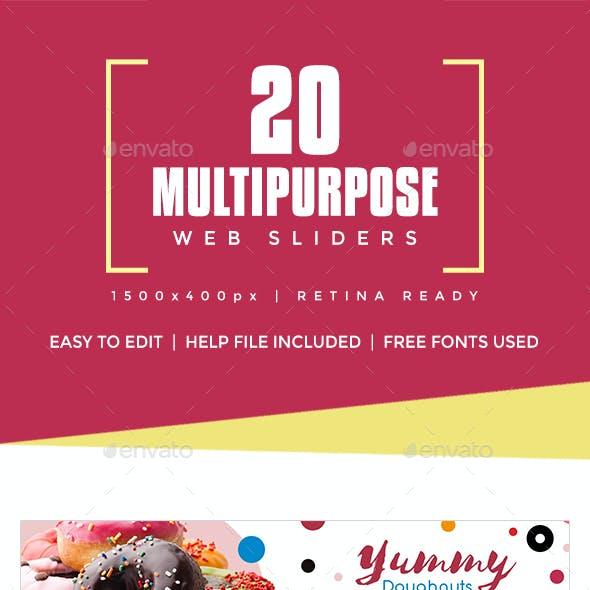 20 Multipurpose Web Sliders