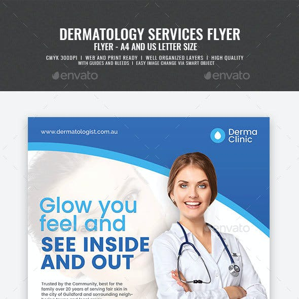 Dermatology Clinic Promotional Flyer