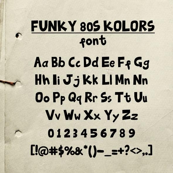 Funky80sKolors - Graffiti Fonts
