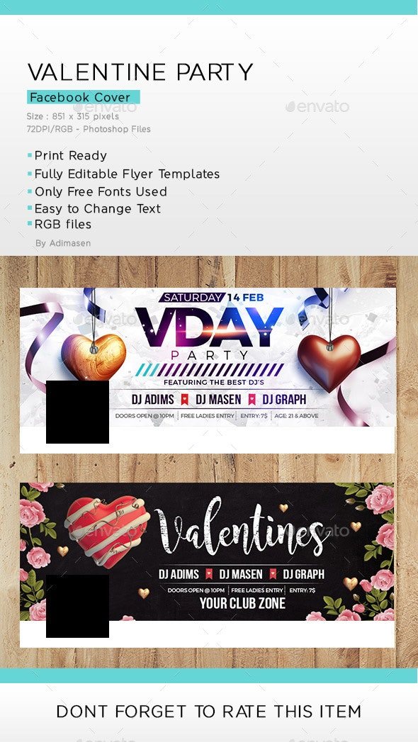 Valentine Day Party Facebook Cover - Facebook Timeline Covers Social Media