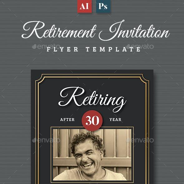 Retirement Invitation Flyer Templates