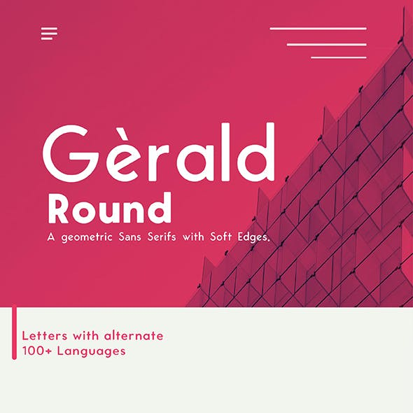Gerald Round Sans Font - Geometric Elegant Soft Typeface