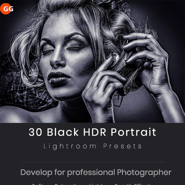 30 Black HDR Portrait Lightroom Preset