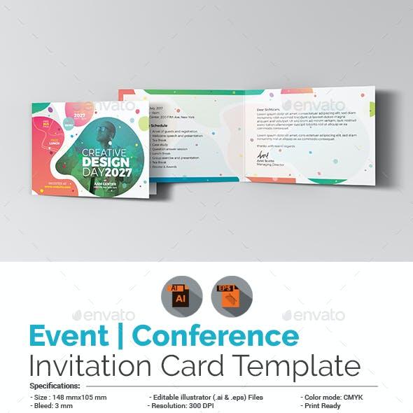 Event/Conference Invitation Card Template