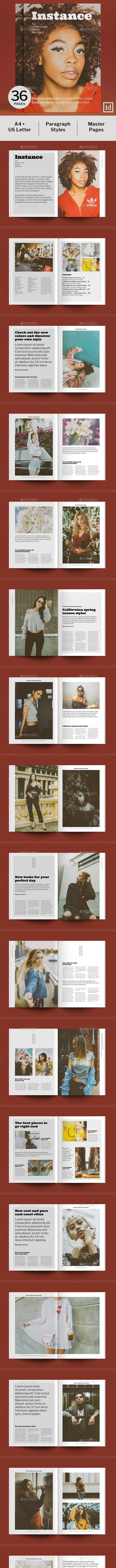 Instance – The Contemporary Fashion Magazine - Magazines Print Templates