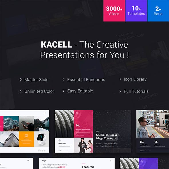 Kacell - Multipurpose & Business Template (Keynote)