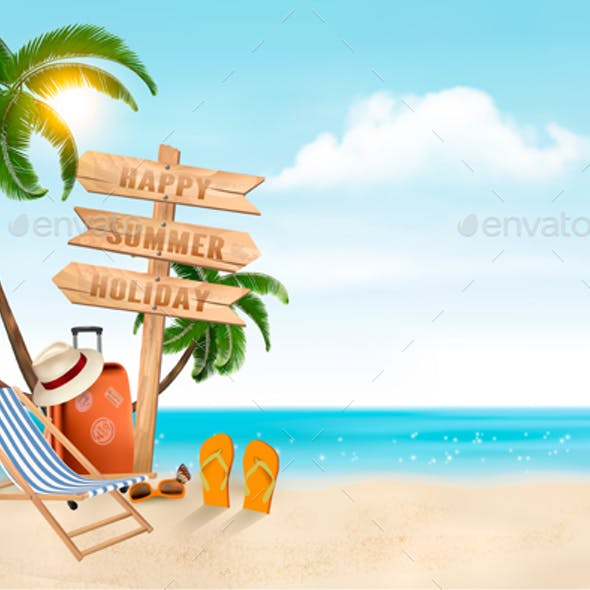 Seaside Vacation Vector