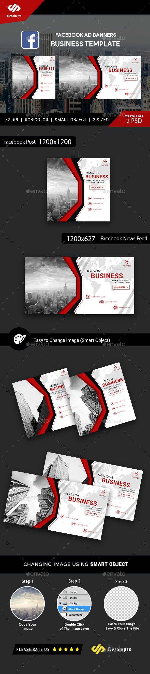 Business Service Facebook Ads Banner - AR by DesainPro